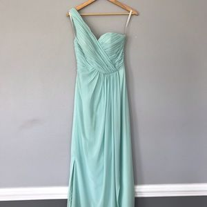 Mint maxi dress wedding / prom/ bridesmaid
